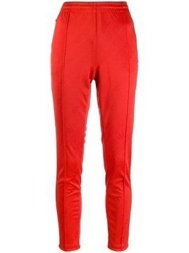 Adidas side stripe track pants - Red
