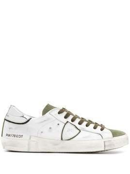 Philippe Model Paris distressed low-top trainers - White
