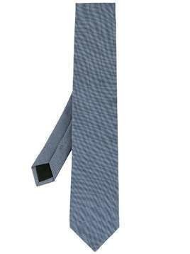 D'urban woven pointed-tip tie - Blue