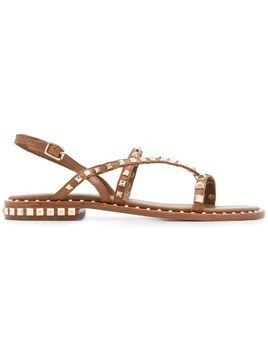Ash Peace flat sandals with studs - Brown