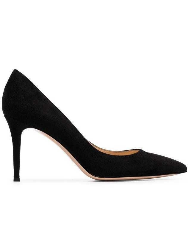 Gianvito Rossi black gianvito 85 suede leather pumps