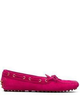 Car Shoe The Original Driver eyelet detail loafers - PINK