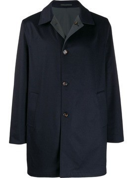Kired single-breasted coat - Blue