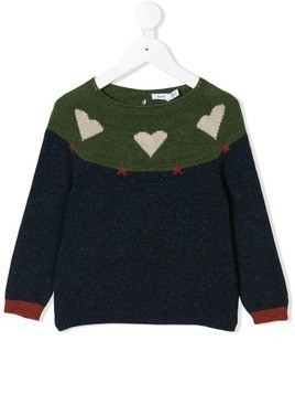 Knot Hearts & Stars jumper - Blue