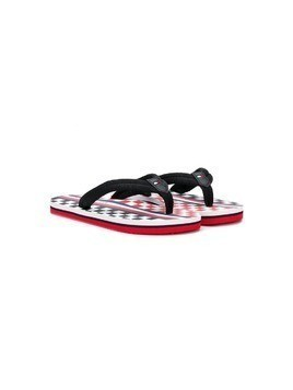 Tommy Hilfiger Junior slip-on flip flops - Black