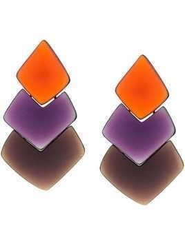 Monies layered drop earrings - Orange