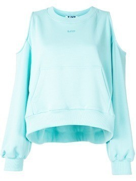 SJYP shoulder cutout sweatshirt - Blue