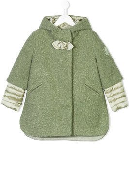 Monnalisa faux-shearling coat with detachable liner - Green