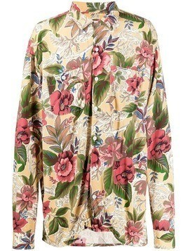 Engineered Garments floral print shirt - Yellow