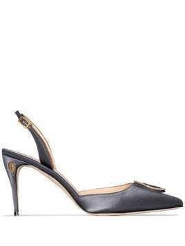 Jennifer Chamandi Vittorio 85mm slingback pumps - Grey