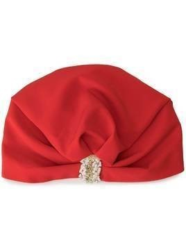 Ingie Paris embroidered ruched hat