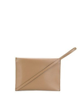 Aesther Ekme pochette clutch bag - Brown