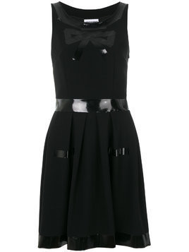 Moschino bow print dress - Black