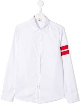Gcds Kids button front shirt - White