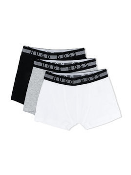 Boss Kids three-pack logo underwear - Black