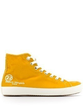 Maison Margiela Tabi toe high-top sneakers - Yellow
