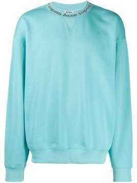Acne Studios knitted collar jumper - Blue