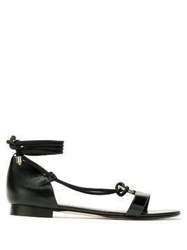 Studio Chofakian tie ankle sandals - Black