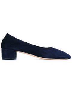 Maryam Nassir Zadeh - Navy Suede Roberta Pumps - Women - Leather/Suede/Rubber - 40.5