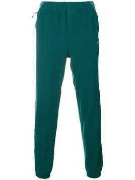 Adidas contrast panel track trousers - Green