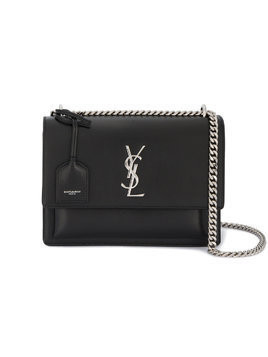 Saint Laurent medium Sunset shoulder bag - Black
