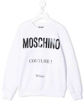 Moschino Kids TEEN Moschino Couture print sweatshirt - White