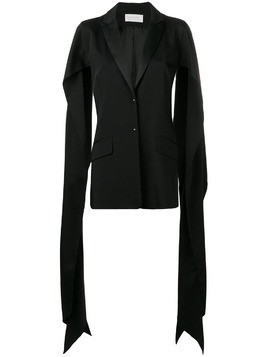 Esteban Cortazar draped slit sleeve blazer - Black