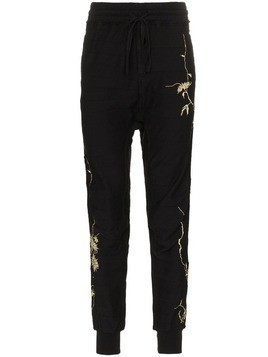 Haider Ackermann embroidered track pants - Black