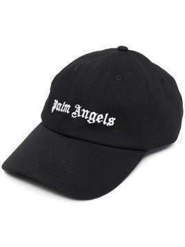 Palm Angels embroidered logo cap - Black