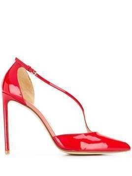 Francesco Russo patent 110mm pumps - Red