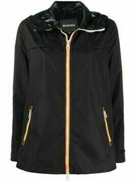 Duvetica hooded zipped jacket - Black