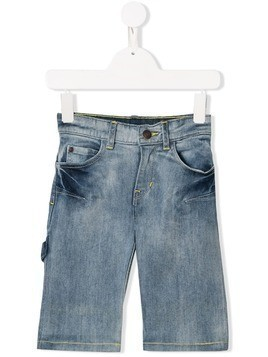 Little Marc Jacobs bleached denim shorts - Blue