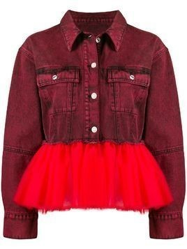 Brognano tulle hem denim jacket - Red