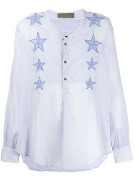 Di Liborio star embroidered shirt - Blue