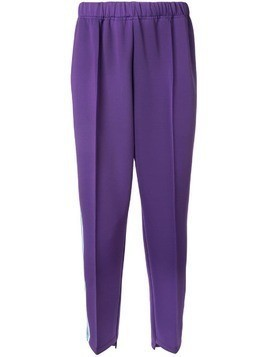 A(Lefrude)E appliqué side strip track pants - PURPLE