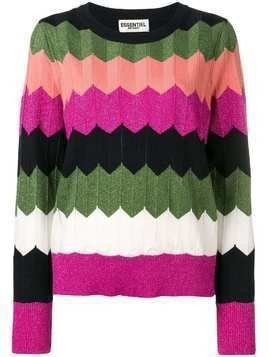 Essentiel Antwerp zigzag panelled jumper - Green