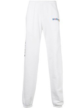 Local Authority relaxed-fit track trousers - White