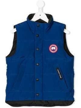Canada Goose Kids logo patch zipped gilet - Blue