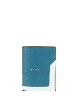 Marni colour-block panelled wallet - Blue