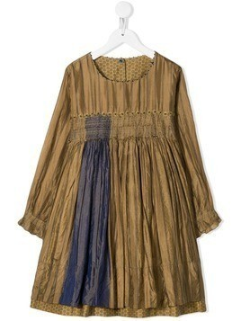 Pero Kids stripe dress - Brown