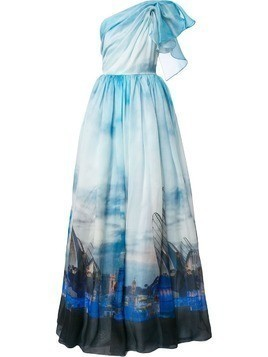 Isabel Sanchis Valencia printed ball gown - Blue