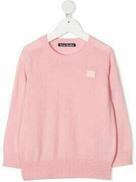 Acne Studios Face-patch wool jumper - PINK