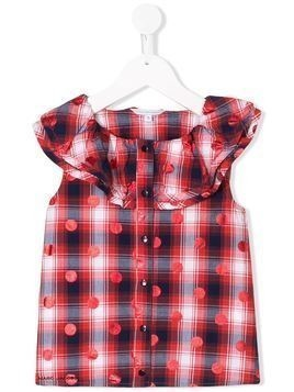 The Marc Jacobs Kids frill trimmed sleeveless blouse - Red