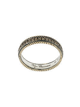 Ugo Cacciatori encrusted ring - Metallic