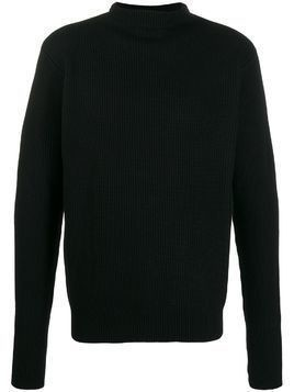 Barena ribbed roll-neck jumper - Black