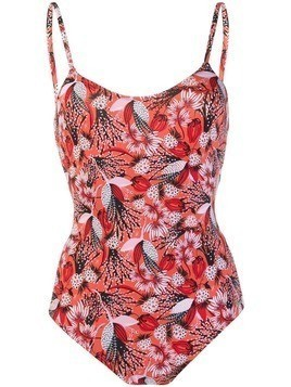 Emmanuela Swimwear Amy floral print swimsuit - Red