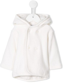 Absorba knitted faux-fur lined cardigan - White