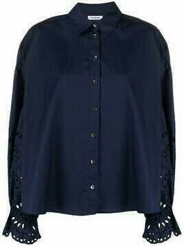 P.A.R.O.S.H. cotton puff-sleeve shirt - Blue