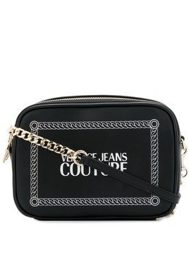 Versace logo cross body bag - Black