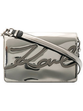 Karl Lagerfeld signature Gloss shoulder bag - Grey